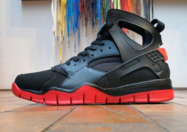 a6ce455b5b21 Nike Air Huarache BBall 2012  Black Sport Red  - Now Available ...