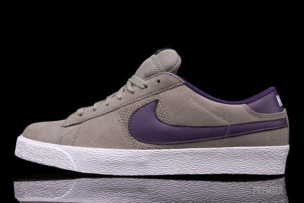 Nike SB Blazer Low 'Iron/Quasar Purple' - Now Available