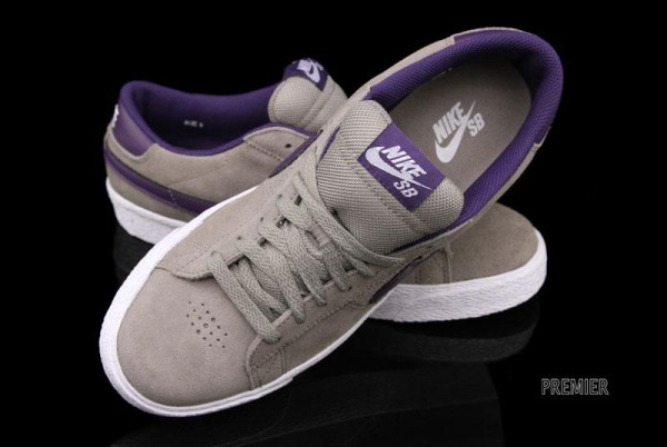 Nike SB Blazer Low 'Iron/Quasar Purple' - Now Available