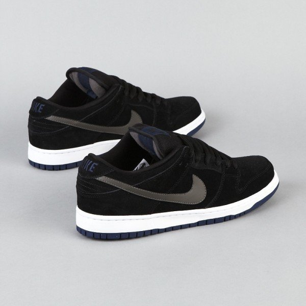 Nike SB Dunk Low - Black/Midnight Fog-Navy-White - Now Available