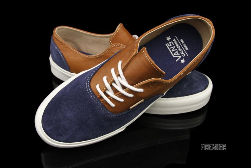 7b8e1a48ef good Vans CA Era Decon Dress Blue Brown Leather Now Available ...