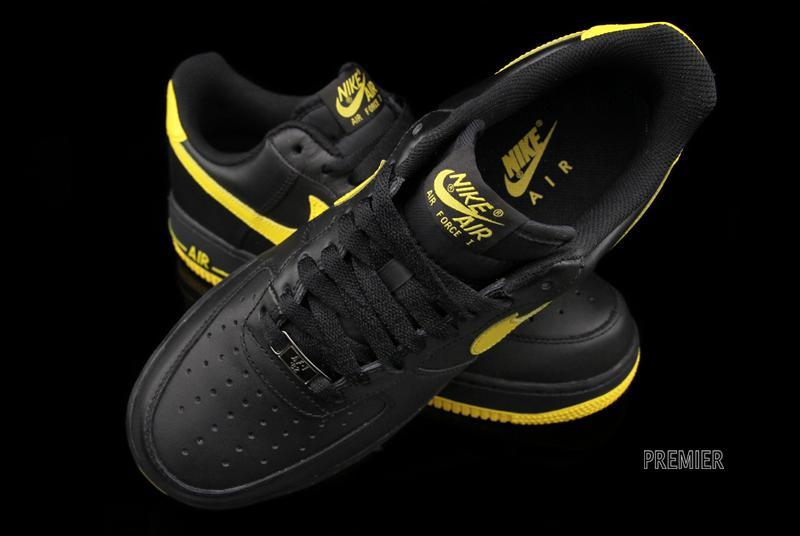 designer fashion 1bc1c c7e89 Color Black Black-Varsity Nike Air Force 1 Low Black Varsity Maize - Now  Available ...