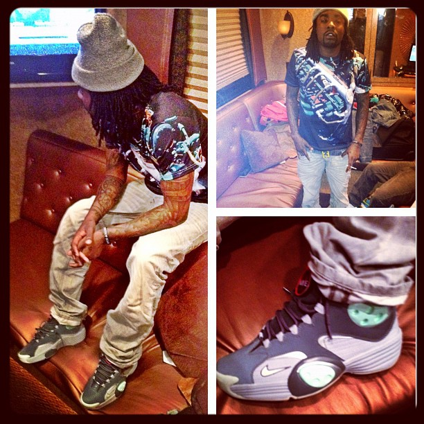 Wale Hits Hollywood in the Glow In The Dark Air Flight One