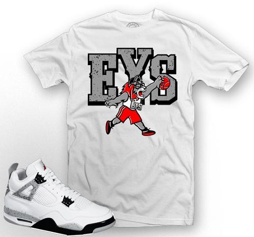 "Air Jordan Retro IV (4) ""White Cement"" - Express Your Sole T-Shirt"