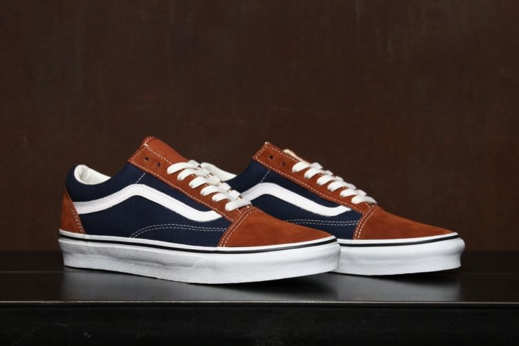 e3b3d61d58d5c3 Vans Gold Coast Old Skool  Ginger Bread Dress Blue  - Now Available ...