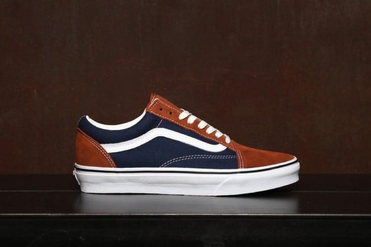 vans old skool blue brown