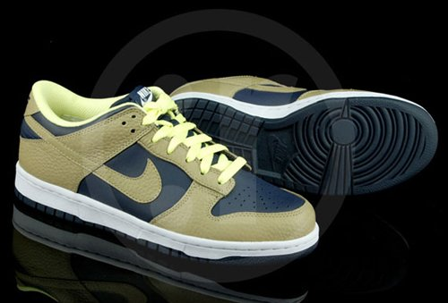 Nike Dunk Low - Obsidian/White Lime-Khaki