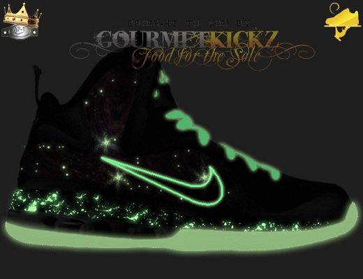 "Nike LeBron 9 ""Galactic Supreme"" Customs by GourmetKickz - A First Look"