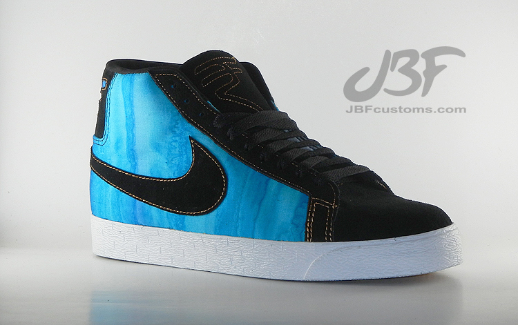 "Nike SB Blazer ""AquaMarine"" Customs by JBF"