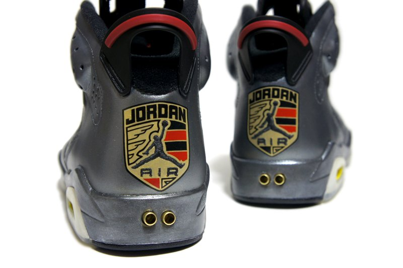 Air Jordan VI (6) 'Agate Metallic Grey Porsche 911′ Custom by C2 Customs