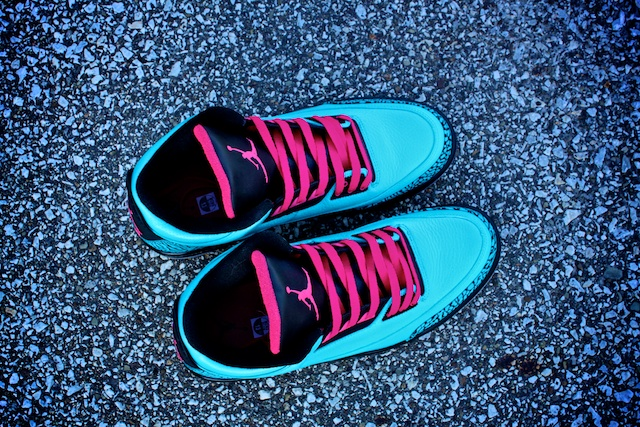 Air Jordan III (3) 'South Beach' Custom by Proof Culture