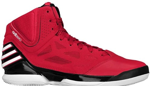 best value e4eaf 65d1b ... low-cost adidas adiZero Rose 2 5 Scarlet Black White ...