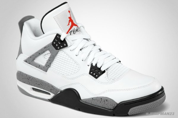 Air Jordan IV (4) 'White/Cement' - Official Look