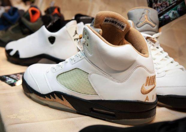 Air Jordan V (5) White/Gold 'Wedding' Sample