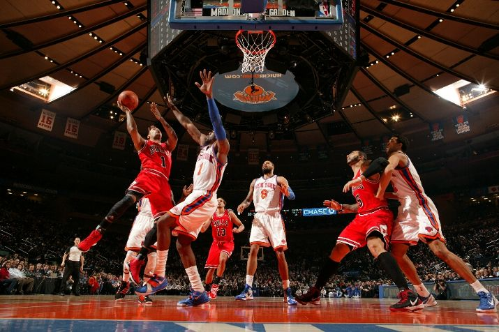 Derrick Rose Wears 'Brenda' On Court at MSG