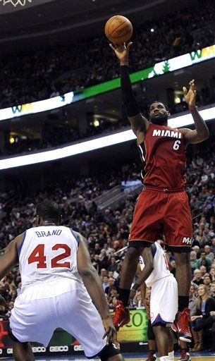 LeBron and Wade Rock Alternate PEs in Philly