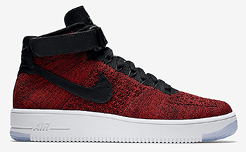 Nike Air Force 1 Flyknit University Red