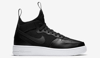 Nike Air Force 1 UltraForce 1 Mid Black Silver Release Date