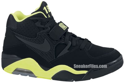 brand new 01cb4 211cc Nike Air Force 180 Black Volt Release Date 2012
