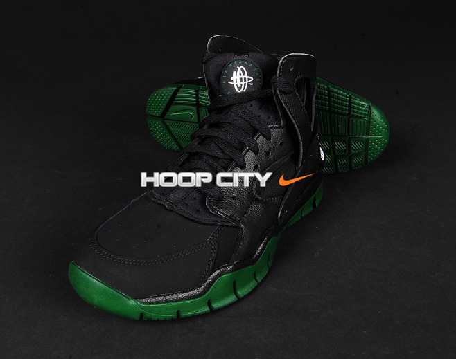 Nike Air Huarache BBall 2012 'Black/Green'