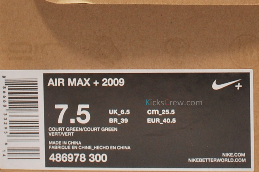 Nike Air Max+ 2009 'Court Green' - March 2012