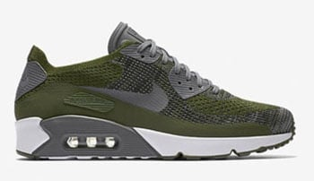 Nike Air Max 90 Ultra 2.0 Flyknit Rough Green