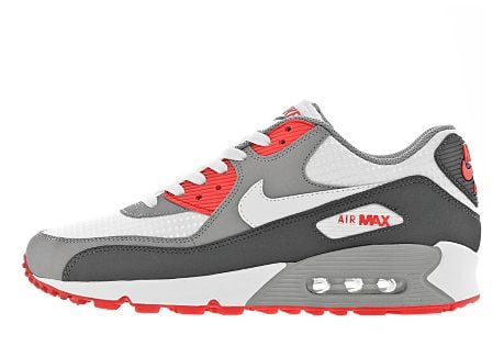 Nike Air Max 90 WhiteDark Shadow Red JD Sports