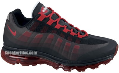 low priced 30ae5 a9f99 Nike Air Max 95 360 Black Sport Red Anthracite Release Date 2012