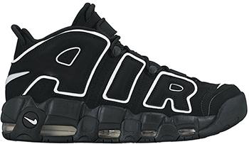Nike Air More Uptempo Black White 2016