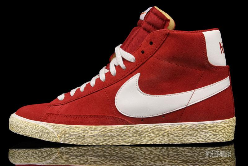 Nike Blazer High Vintage shoes red grey