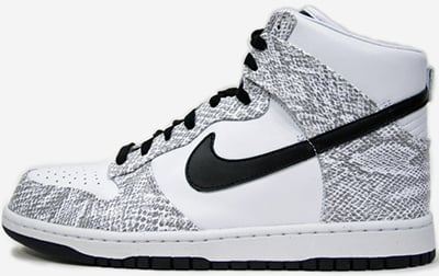 Nike Dunk Hi White Black Release Date 2013