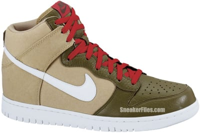 Nike Dunk High Jersey Gold White Iguana Release Date
