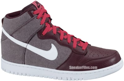 Nike Dunk High Red Mahogany White Red Release Date