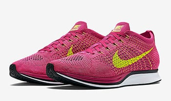 Nike Flyknit Racer Fireberry Volt