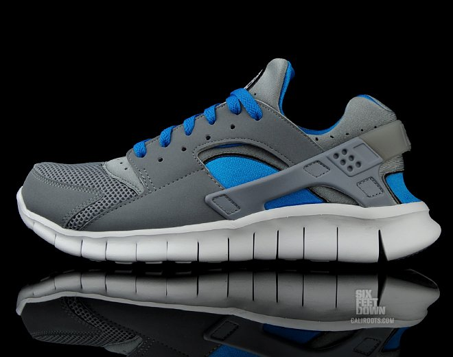 ff08dd270e91d Nike Huarache Free 2012  Stealth Neptune Blue  - Now Available ...