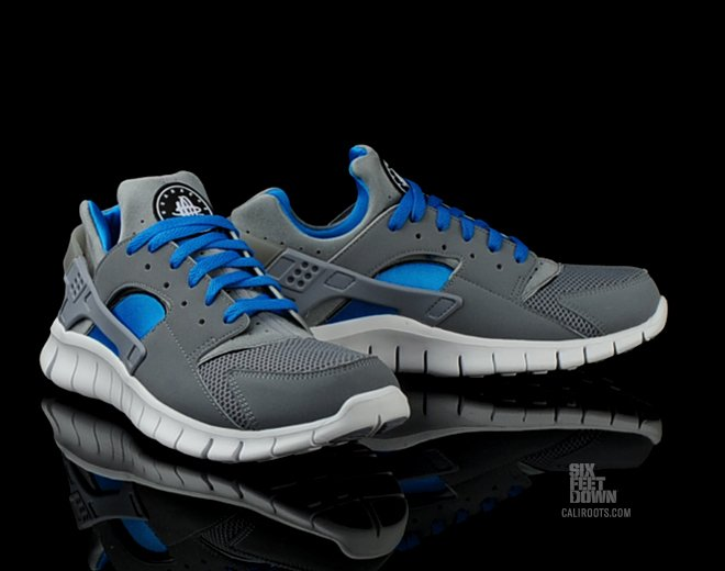 nike huarache free 2012 stealthneptune blue now