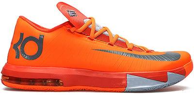Nike KD 6 Total Orange Release Date 2013
