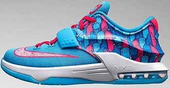 uk availability a487a 26eef Nike KD 7 GS Frozens Release Date 2015
