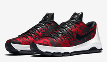 Nike KD 8 EXT Red Floral Finish