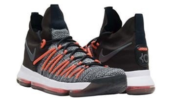 Nike KD 9 Elite Black Grey Orange
