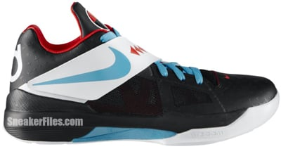 Nike KD IV N7 Black Turquoise Red Release Date 2012
