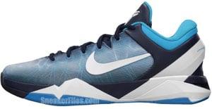 Nike Kobe 7 Obsidian White Blue Grey Release Date