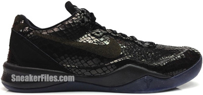Nike Kobe 8 EXT Black Metallic Silver Year of the Snake Release Date 2013