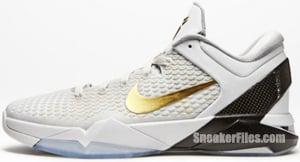 Nike Kobe VII Elite Home White Metallic Gold Release Date