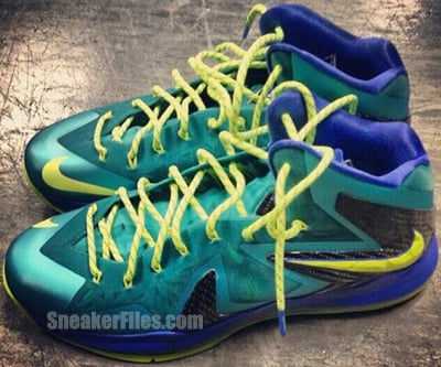 Nike LeBron 10 PS Elite Turquoise Volt Violet May 2013 Release Date