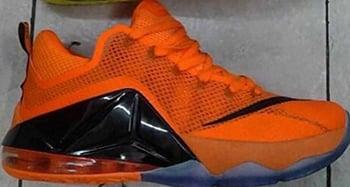 Nike LeBron 12 Low Orange Black Release Date 2015