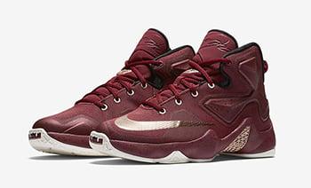 Nike LeBron 13 GS Team Red Metallic Red Bronze
