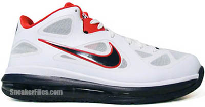 Nike LeBron 9 Low USA White Obsidian Red University Red Release Date 2012