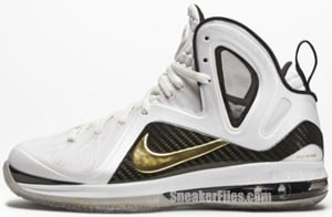 Nike LeBron 9 PS Elite Home White Gold Black Release Date
