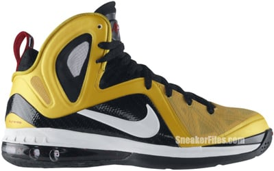 huge selection of 084d7 dbc5e Nike LeBron 9 PS Elite Taxi Maize White Black Red Release Date